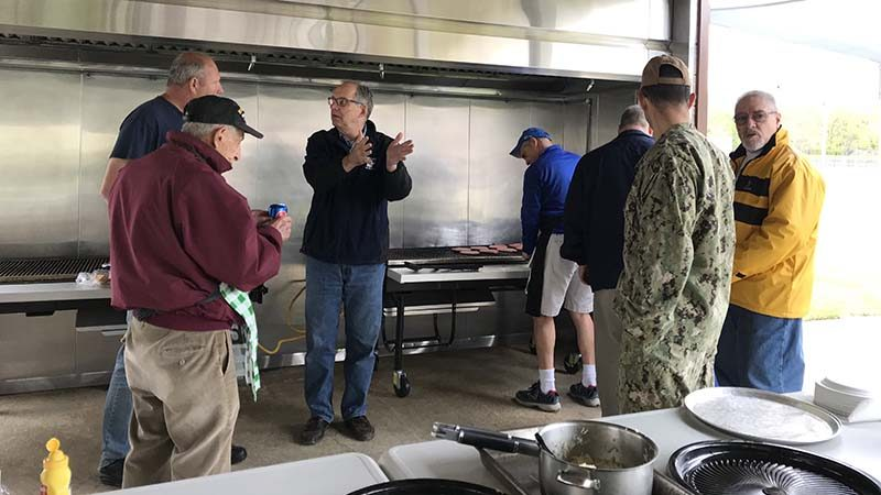 Council cooks and serves food at NWS Earle