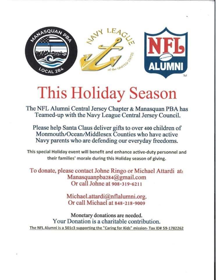 NFL Alumni and Manasquan PBA